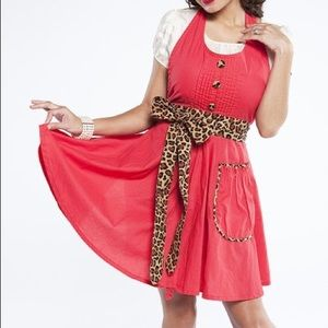 Other - GRANDWAY // Apron in Red Leopard Lindy